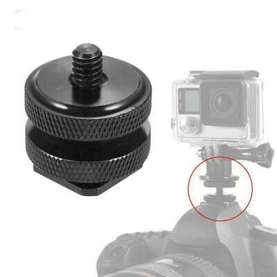 "1/4""-20 Tripod Mount Screw to Flash Hot Shoe Adapter For Nikon DSLR Camera Y3E6"