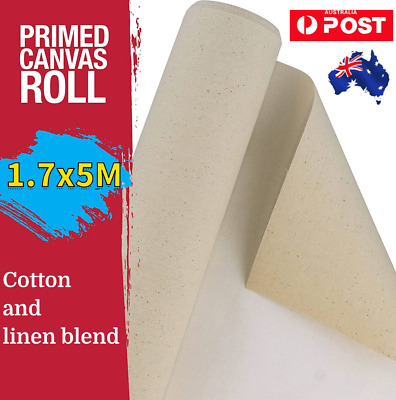 Professional Triple Primed Artist Blank Canvas Roll 1.7 x 5m Cotton Linen 550Gsm