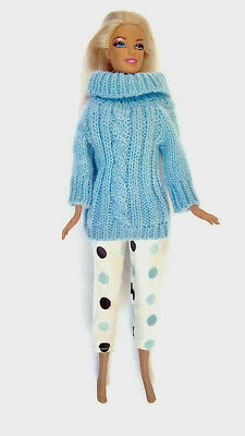 New barbie doll clothes clothing outfit casual pants & jumper