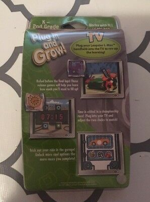 New Sealed Leap Frog Leapster L-max Educational Game Nascar K-2nd Ages 5-8