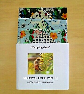 Beeswax Food Wraps.  6 Pack. 3 medium 3 small. Say no to cling wrap.