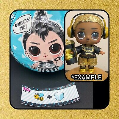 LOL Surprise 🤴🏻KING BEE 🐝 Doll RARE Gold Ball Boys Series MGA Toy SEALED
