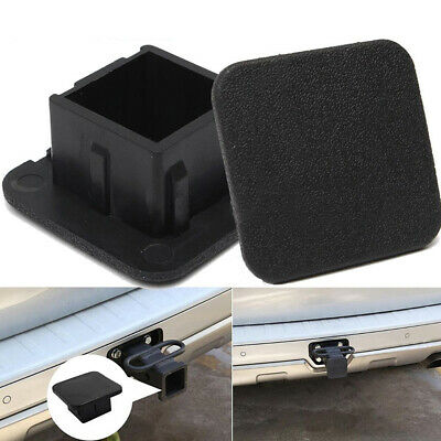 """1x Rubber Car Kittings 1-1/4"""" Black Trailer Hitch Receiver Cover Cap Accessories"""