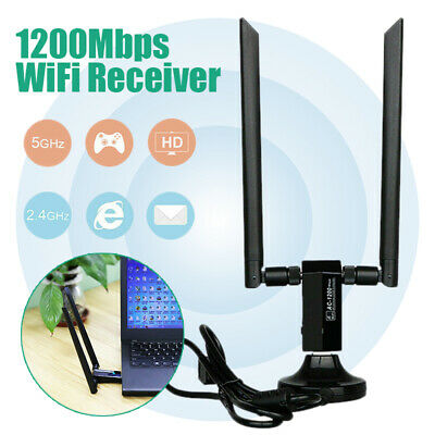 1200Mbps 2.4G/5.8G Dual Band Wireless Adapter WiFi Receiver USB3.0 Transmitter
