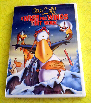 A Wish For Wings That Work ~ New DVD Movie ~ Opus n' Bill 1991 Christmas Cartoon