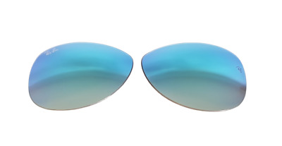 Lenti Ricambio Ray Ban 8301 59 4O Cockpit Blue Mirror Shaded Lenses Replacement