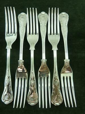 6  nice vintage EPNS A1 Dessert Side Forks kings pattern silver plated #4