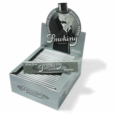 Smoking Rolling Paper King Size Silver Master Box Of 50 Booklets