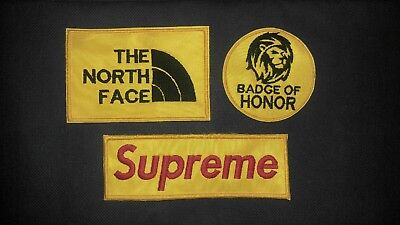 The North Face Badge of Honor Supreme Embroidery Iron on Patch + FREE SHIPPING