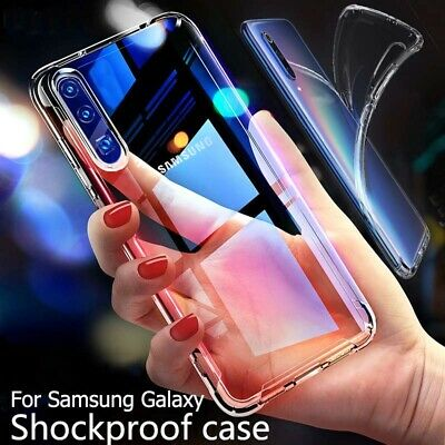 UK CLEAR Case For Samsung Galaxy A70 A50 A40 A20e Cover Shockproof Silicone Gel