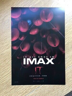 IT Chapter Two IMAX Cineworld Poster A4 Film Stephen King / Pennywise 2019