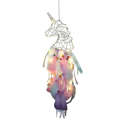 Dream Catcher Handmade Traditional White Cloud Dream Catcher With Led String 5Z3