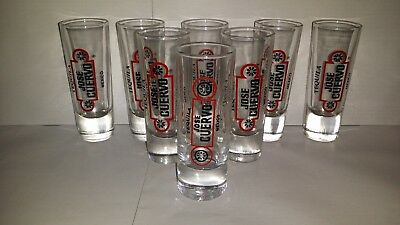 8 X JOSE CUERVO Mexico Collectable Tequila Shot Glass EX Condition