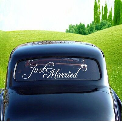 Just Married Wedding Car Window Banner Sticker Decal Vinyl Personalised Decor !