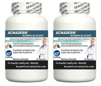 2x Acne Pills Supports Clear Skin Blemishes Blackheads Detox Spots Complexion
