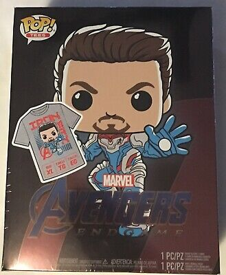 Iron Man Funko Pop Tshirt Collectors Box Avengers Endgame Size XL New Limited