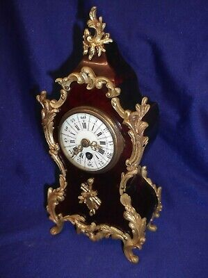 Most Beautiful Miniature French Boulle Mantle Clock......very Rare Item +