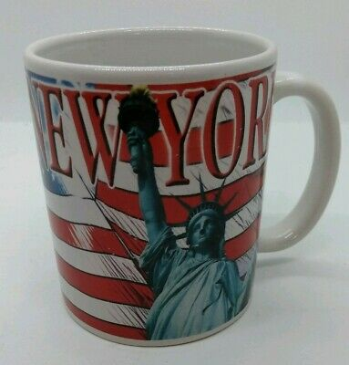 New York City Java Cup Mug Coffee Tea Empire State Building Lady Liberty Souveni