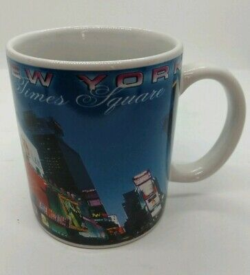 New York City Java Cup Mug Coffee Tea Souvenir TIMES SQUARE Virgin Mobile LG