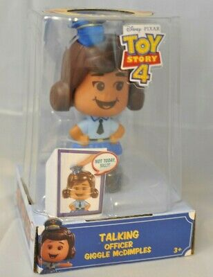 DISNEY PIXAR TOY STORY 4- TALKING OFFICER GIGGLE McDIMPLES 20 SOUNDS 3 FACES