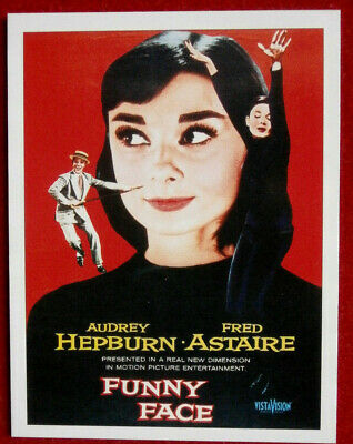 AUDREY HEPBURN - Individual Card # 04 - from Movie Idols Set - FUNNY FACE