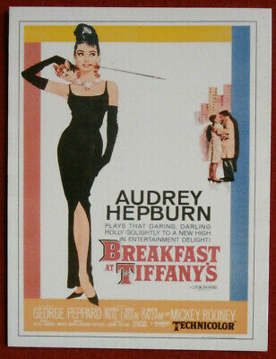 AUDREY HEPBURN - Individual Card # 07 - Movie Idols Set - BREAKFAST AT TIFFANY'S