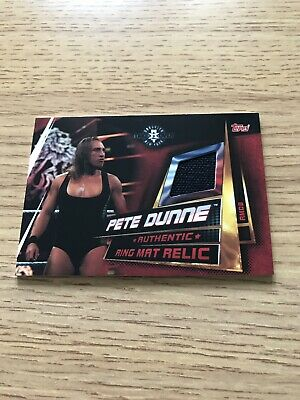 Topps WWE Slam Attax Universe Ring Mat Relic Card Pete Dunne RMDB