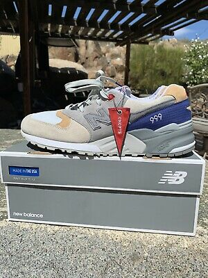 reputable site 7a6c8 ce69a NEW BALANCE 999 X Concepts Kennedy Hyannis Size 10.5 US
