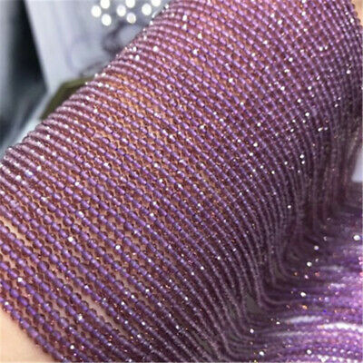 1pcs 2-3mm Natural Purple Spinel Section Loose Beads 15 inches Lots Gemstone