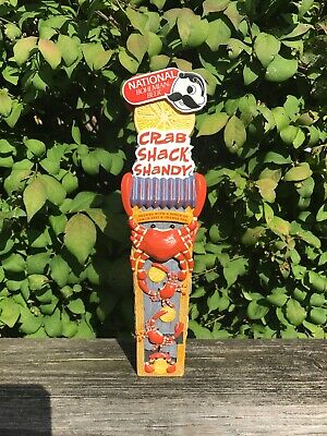 NATIONAL BOHEMIAN CRAB SHACK SHANDY beer tap handle / Baltimore, MD