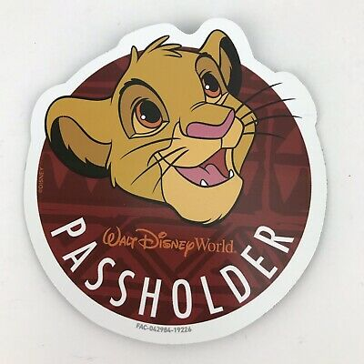Simba Walt Disney World Annual Passholder Magnet Lion King Authentic 2019