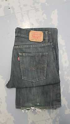 Levi Strauss 514 Slim Straight Red Tab Jean - W29/30 L28 - Blue Tint