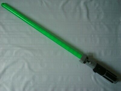 Star Wars Yoda Lightsaber Disney Store Exclusive Green Sounds Motion FX 33""