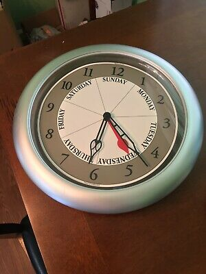 DayClocks Inc. Silver DayClock Red Handle For Days Of Week