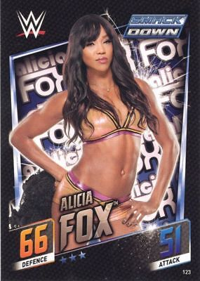 123 Alicia Fox WWE Slam Attax Then Now Forever