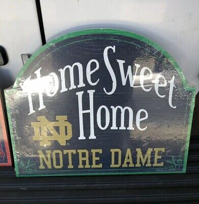 "NCAAA Norte Dame   Wincraft 11"" x  10"" Wooden ""Home Sweet Home"" Sign NEW!"