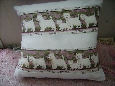 West Highland White Terriers       Cushion 16 Inch/ 40 Cm