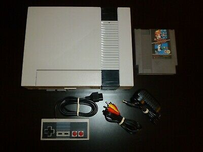 Nintendo NES Console Complete With All Cords Controller+ Super Mario Bros Game B