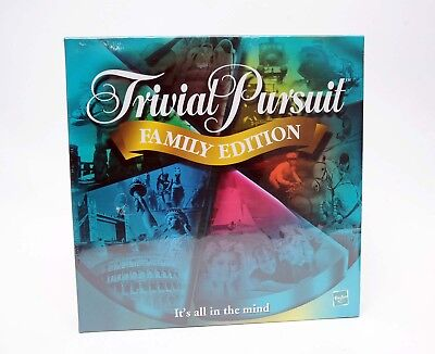 Sealed  2001 Trivial Pursuit Family Edition Parker Hasbro Games Game