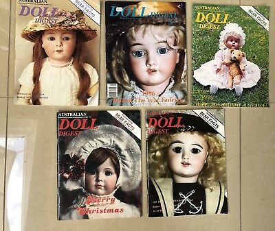 Vintage Doll Digest With Bear Facts Included X 5 80'S And 90'S Editions In Vgc