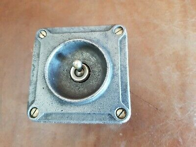 Vintage Industrial Cast Iron Crabtree Toggle Light Switch Free P&P
