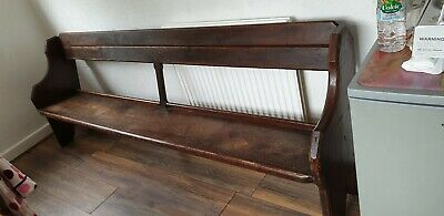 8ft Wooden Church Bench Pew