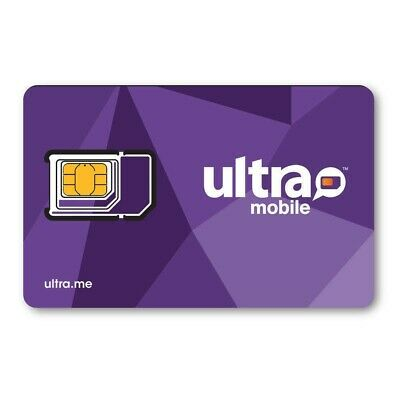 PreLoaded Ultra Mobile SIM Card+$19 Plan 1st Month INCLUDED (1GB FAST DATA)