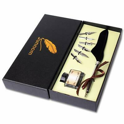 Soriace® Retro Goose Quill Pen, Calligraphy Dip Feather Pen Sealing Set with Fea