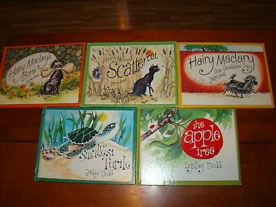 6 BOOKS BY LYNLEY DODD -  3 HAIRY MACLARY - SMALLEST TURTLE - APPLE TREE - 1980s