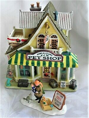 Lemax ~ Pet Shop ~ Paws & Claws ~ Village ~ Collection ~ Lighted ~ Christmas