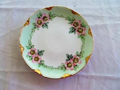 """Vintage Beautiful Decorative 6"""" Gold Rim Floral China Plate Unbranded"""