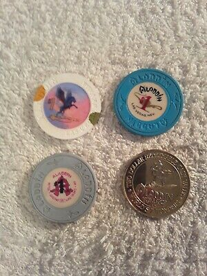 Aladdin Las Vegas casino chips lot of 4