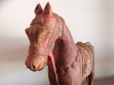 Indian Antiques, Indian Antique Wooden Horse, Wooden Horse,Asian Antiques