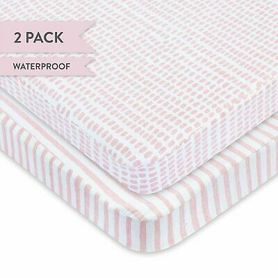 Waterproof Pack N Play/Mini Portable Crib Sheet with Mattress Pad Cover...